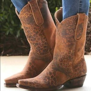 Old Gringo Leopardito Ocre Boots